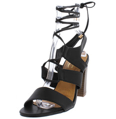 ANASAYA10 BLACK WOMEN'S HEEL - Wholesale Fashion Shoes