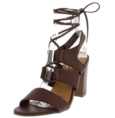 ANASAYA10 BROWN WOMEN'S HEEL - Wholesale Fashion Shoes