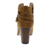 Bianca214 Cognac Stitch Wrap Strap Ankle Boot - Wholesale Fashion Shoes