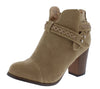 Bianca214 Taupe Stitch Wrap Strap Ankle Boot - Wholesale Fashion Shoes