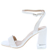 Angelena8 White Open Toe Ankle Strap Lucite Block Heel - Wholesale Fashion Shoes