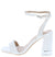 Angelena8 White Open Toe Ankle Strap Lucite Block Heel