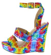 Angeta6 Multi Dual Strap Open Toe Ankle Strap Wedge - Wholesale Fashion Shoes