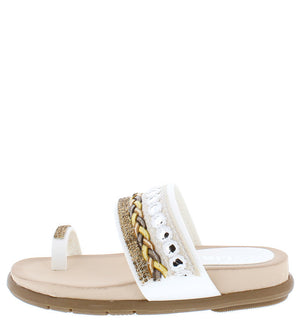 5832d798158f6 Anna White Gold Chain Thong Sandal  10.88 · Anya4k White Beaded Braided  Slide on Toe Strap Kids Sandal - Wholesale Fashion Shoes