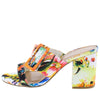 Appetite73 White Multi Open Toe Buckle Strap Block Heel - Wholesale Fashion Shoes