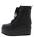Gloria145 Black Lace Up Platform Combat Boot