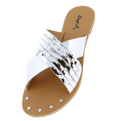 ARCHER376 SILVER WOMEN'S SANDAL - Wholesale Fashion Shoes