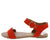 Archer559x Blood Orange Open Toe Cut Out Ankle Strap Flat Sandal
