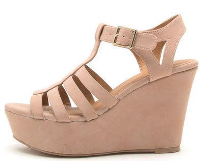Ardor170 Blush Women's Wedge - Wholesale Fashion Shoes