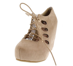 ARIA07 NUDE WOMEN'S WEDGE - Wholesale Fashion Shoes