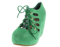 ARIA07 GREEN WOMEN'S WEDGE - Wholesale Fashion Shoes