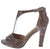 Artworks Mauve Peep Toe T Strap Tapered Heel
