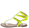 Alya165 Neon Yellow  Studded Strappy Gladiator Thong Sandal - Wholesale Fashion Shoes