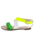 Morgan273 Green Snake Multi Cross Strap Open Toe Sandal