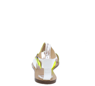 Morgan273 Green Snake Multi Cross Strap Open Toe Sandal - Wholesale Fashion Shoes