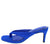 Alison044 Blue Thong Square Open Toe Slide On Short Heel