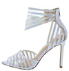 Ashton Hologram Geometric Lucite Peep Toe Stiletto Heel - Wholesale Fashion Shoes