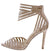 Ashton Nude Geometric Lucite Peep Toe Stiletto Heel