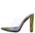 Atlantis Multi Clear Pointed Peep Toe Lucite Mule Heel