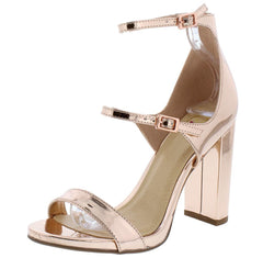 ATTACHS PENNY OPEN TOE MULTI STRAP CHUNKY HEEL - Wholesale Fashion Shoes