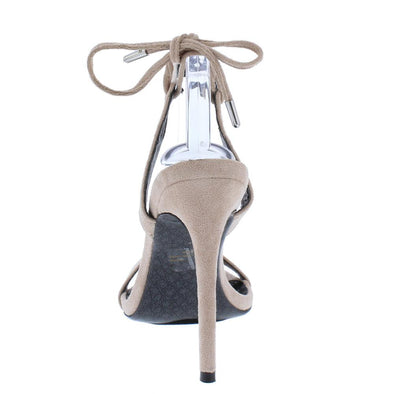 Austin Nude Pointed Open Toe Tie Back Stiletto Heel - Wholesale Fashion Shoes