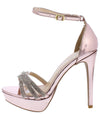 Avalon242 Rosa Pink Rhinestone Open Toe Platform Heel - Wholesale Fashion Shoes