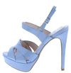 Avalon271 Light Blue Pat Pu Cut Out Peep Toe Platform Heel - Wholesale Fashion Shoes