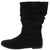 Alonddra168 Black Almond Toe Pull On Boot