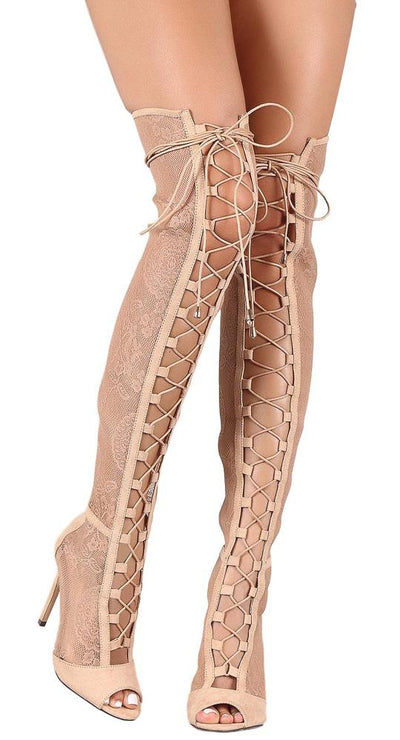Maria275 Nude Women's Boot - Wholesale Fashion Shoes