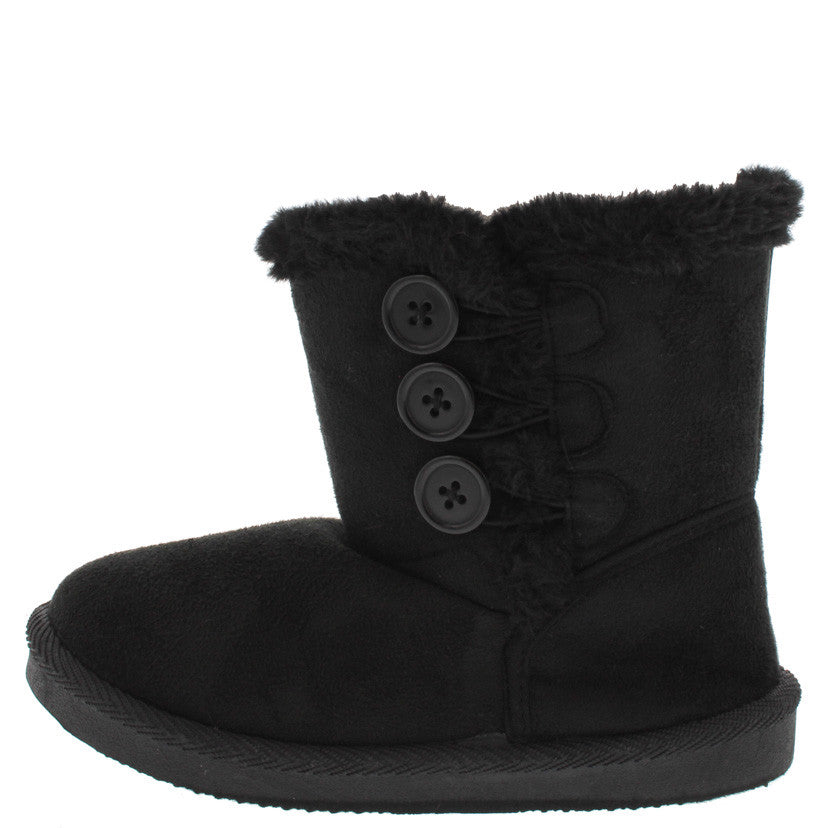 93f099705a854 Bbq03km Black Button Faux Fur Fashion Boots From $12.88 - $27.88 ...