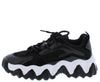 Payton4 Black Two Tone Lace Up Chunky Sneaker Flat - Wholesale Fashion Shoes