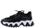 Payton4 Black Two Tone Lace Up Chunky Sneaker Flat