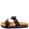 Janis070 Orange Camo Women's Sandal - Wholesale Fashion Shoes