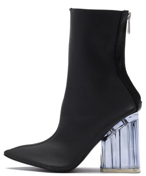 36a9b919b00 Birthday Suit Black Fitted Pointed Toe Lucite Boot - Wholesale Fashion Shoes