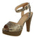 Bonica91 Brown Snake Pu Women's Heel