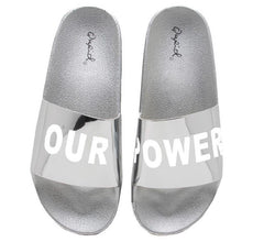 BOOBOO11D SILVER SHINY METALLIC OUR POWER CHROME SANDAL - Wholesale Fashion Shoes