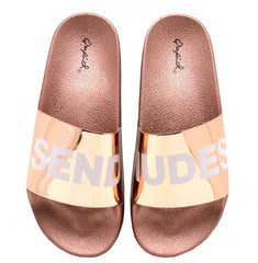 BOOBOO45B ROSE GOLD SEND NUDES WOMEN'S SANDAL - Wholesale Fashion Shoes
