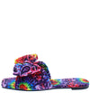 Paula271 Rainbow Paisley Open Square Toe Bow Slide Sandal