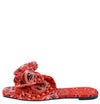 Paula271 Red Paisley Open Square Toe Bow Slide Sandal