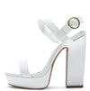 Bronco13 White Women's Sandal - Wholesale Fashion Shoes