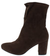 Bt651 Coffee Almond Toe Extended Ankle Boot - Wholesale Fashion Shoes