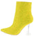 Bacardi Yellow Glitter Lucite Heel Ankle Boot