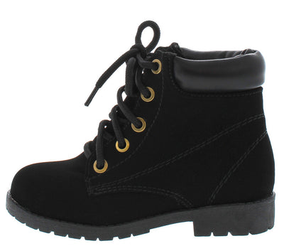 Bade5k Black Kids Utility Ankle Boot - Wholesale Fashion Shoes