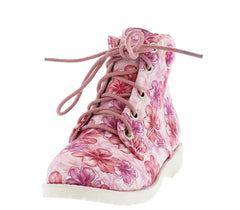 BADE5K FLOWER KIDS UTILITY ANKLE BOOT - Wholesale Fashion Shoes