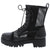 Bali1 Black Perforated Lace Up Combat Boot