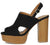 Banbi10 Black Cut Out Slingback Stacked Platform Heel