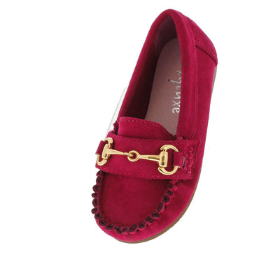Baobao Fuchsia Kids Loafer Flat - Wholesale Fashion Shoes
