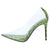 Barely There Lime Lucite Pointed Toe Stiletto Pump Heel