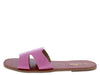 Beachie2 Pink Crocodile Open Toe Side Cut Out Slide Sandal - Wholesale Fashion Shoes