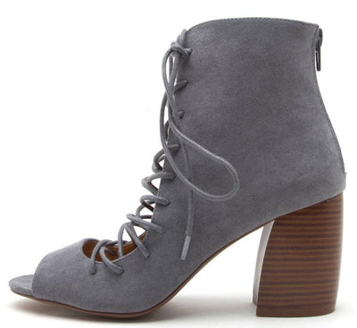 Beau06 Steel Grey Women's Heel - Wholesale Fashion Shoes